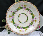 LIMOGES FRANCE HAND PAINTED CHARGER GOLD GILT & PAINTED VIOLETS