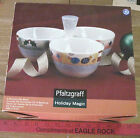 PFALTZGRAFF HOLIDAY MAGIC 3 SECTION DIP BOWL HARD TO FIND IN ORIGINAL BOX