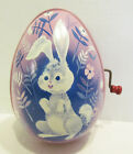 MATTEL 1953 TIN LITHO MUSICAL EASTER EGG TOY BUNNY RABBIT GRAPHICS ~ NOT WORKING