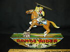 1930s Marx RANGE RIDER Tin Linthographed Wind Up Toy Cowboy Horse Lasso