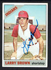 Larry Brown #16 signed autograph auto 1966 Topps Baseball Trading Card