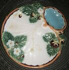 MAJOLICA Minton Strawberry Server GORGEOUS Colors RARE Antique Collectible 9