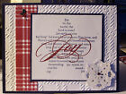 Cuttlebug embossing folder PLAID 5 x 7 Christmas  occasions see pics