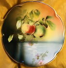 Antique J & C/Jaeger & Co Bavaria Louise Hand Painted Apple Plate Signed A. Koch