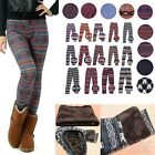 Women's Fleece Lined Thick Nordic Leggings Winter Warm Insulated Christmas Pants