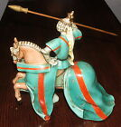 VINTAGE Zaccagnini Jousting Knight on Horse Figurine Italy Signed