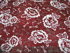 2.5 Yards Quilt Cotton Fabric - Kona Bay Gentle Breeze Flower & Dragonfly Red