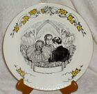Vtg WEDDING PLATE 1950s BRIDE & GROOM Homer Laughlin China USA EGGSHELL GEORGIAN