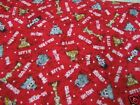 3 Yards Quilt Cotton Fabric - Riverwoods Kathy Brown Surf N Safari on Red
