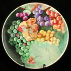 VINTAGE HOMER LAUGHLIN RARE HAND PAINTED DECORATIVE PLATE GRAPES AUTUMN FALL 9