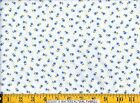 Moda Fabric ~ SUMMER BREEZE ~ French Country White w/ Blue Tiny Flower 596-11