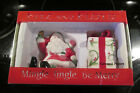 NIB FITZ AND FLOYD Mingle Jingle Be Merry SANTA & PRESENT Salt & Pepper Shakers