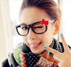 1 Piece Girl Women Cute Cat Kitten Red Bowknot Bow Glasses Frame Costume Hot