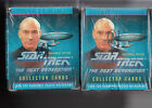 2 1992 STAR TREK The Next Generation 36 Pack Boxes Cards Hologram Inserts Impel
