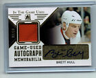 Brett Hull 2015 In The Game Used Autograph Jersey Card 10