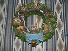 Thomas Kinkade HAWTHORNE VILLAGE LIGHTHOUSE WREATH 2006 Lighted 16