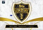 2013 TOPPS SUPREME FOOTBALL HOBBY 16 BOX CASE