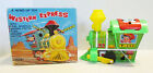 WESTERN EXPRESS TIN WIND-UP TOY TRAIN W/ BOX BY YONE~WORKS~1960's~MADE IN JAPAN