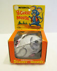 MECHANICAL SCURRY MOUSE TIN WIND-UP TOY MIB WORKS W/ BOX BY YONE, JAPAN 1960's