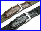 20mm Nylon & Leather Watch Band Strap Suits Wenger Swiss Army Victorinox