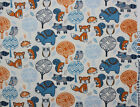SNUGGLE FLANNEL BABY FOREST ANIMALSBEARRACCOONFOX100 Cotton Fabric NEW BTY