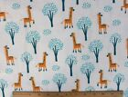 SNUGGLE FLANNEL YELLOW GIRAFFE ANIMAL on WHITE  100 Cotton Fabric NEW BTY