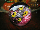 Heavy EICKHOLT signed SEASCAPE PAPERWEIGHT:  Red Coral ,Yellow Anemones, 4