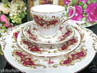 PARAGON TEA CUP AND SAUCER TRIO WITH CAKE PLATE MAJESTIC PATTERN TEACUP