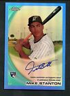 2010 Topps Chrome Blue Refractor Mike Stanton Marlins RC Rookie AUTO 86 199