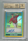 2009 BOWMAN CHROME GOLD REFRACTOR AUTOGRAPH MIKE MINOR BGS 9.5 AUTO BRAVES RC SP