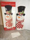 2005 Fitz and Floyd Snack Therapy Snowman Server Plate Store Display Only