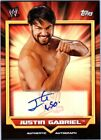 WWE Justin Gabriel 2011 Topps Classic Authentic Autograph Card