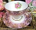 ORCHID PATTERN TEACUP GOLD GILT