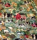 FARM SCENIC by JOAN KESSLER for CONCORD FABRICS INC.  5 1/2 YARDS