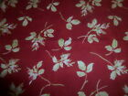 100% Cotton Flannel Fabric Maywood 8094 Winter Palace Pale Floral on Red 33