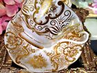 ROYAL ALBERT TEA CUP AND SAUCER AVON WIDE MOUTH  GOLD MAJESTIC TEACUP