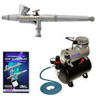 G34 03mm Dual Action Gravity AIRBRUSH KIT Tank Air Compressor Hobby Cake Tattoo