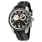 Certina DS Podium GMT Black and Silver Dial Black Rubber Mens Quartz Watch