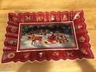 Boch TOY'S FANTASY Sleigh Ride Rectangular Cake Plate  #2227