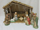 Nativity Set 11 Figures Plus Stable Creche Manger Sears Christmas Christian