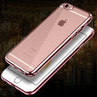 "For 4.7"" / 5.5"" Plus iPhone 6 6S Ultra Slim Clear Plating TPU Soft"