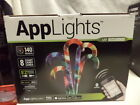 NEW-LED Lightshow Candy Cane Applights-140 Effects-8 Ct Box-Multi Color