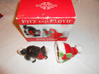 Fitz and Floyd KITTY CLAUS cat Salt & Pepper Shakers Set w/Box