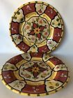 Pier 1 One Vallarta Set Of 2 Round Serving Platters Chargers Plates 13