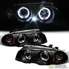 Blk 1999 2001 BMW E46 3 Series Sedan 323i 328i 330 LED Halo Projector Headlights
