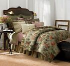 Chaps Home Brittany 3-pc. Duvet Cover Shams Set Full Queen New Green Floral