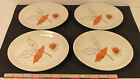 4 Shenango China Abstract Leaf Oval Side Plates 7 x 5 1/2 in Rim Rol T14 1956