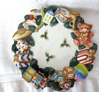 OMNIBUS FITZ & FLOYD TOYLAND SCULPTED CHRISTMAS CANAPE PLATE - EUC! - NICE!!
