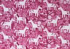 SNUGGLE FLANNEL WHIMSICAL UNICORN on ROSE PINK 100 Cotton Fabric NEW BTY