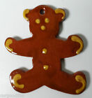NED FOLTZ REDWARE POTTERY CHRISTMAS ORNAMENT - TEDDY BEAR #1